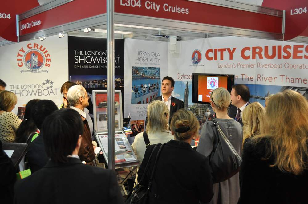 City Cruises trade show stand