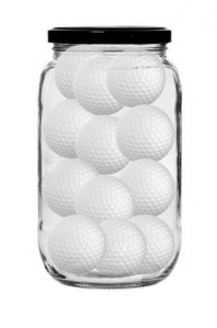 Golf Balls in a jar